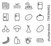 thin line icon set   newspaper  ... | Shutterstock .eps vector #759396901