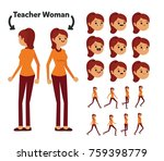 character is a teacher woman.... | Shutterstock .eps vector #759398779