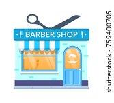 concept of modern city barber... | Shutterstock .eps vector #759400705