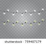 glowing garland vector.... | Shutterstock .eps vector #759407179