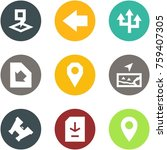 origami corner style icon set   ... | Shutterstock .eps vector #759407305