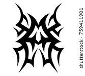 tribal pattern tattoo vector... | Shutterstock .eps vector #759411901