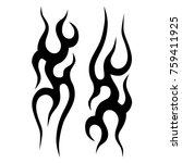 tattoo tribal vector designs.... | Shutterstock .eps vector #759411925
