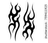 tattoo tribal vector design.... | Shutterstock .eps vector #759411925