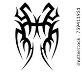tattoo tribal vector design.... | Shutterstock .eps vector #759411931