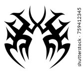 tattoo tribal vector designs.  | Shutterstock .eps vector #759412345