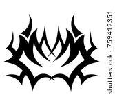 tattoo tribal vector design.... | Shutterstock .eps vector #759412351