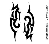 tattoo tribal vector design.... | Shutterstock .eps vector #759412354
