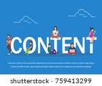 content illustration of young... | Shutterstock . vector #759413299
