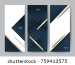 branding packageing luxury navy ... | Shutterstock .eps vector #759413575