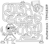help pirate find path to... | Shutterstock .eps vector #759418309