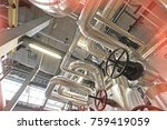 equipment  cables and piping as ... | Shutterstock . vector #759419059
