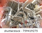 equipment  cables and piping as ... | Shutterstock . vector #759419275