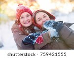 winter lifestyle concept  ...   Shutterstock . vector #759421555