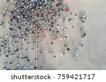 view from the drone of the... | Shutterstock . vector #759421717