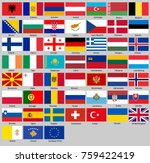 all flags of europe. in... | Shutterstock .eps vector #759422419