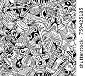 cartoon cute doodles classical... | Shutterstock .eps vector #759425185