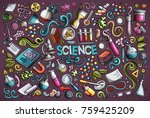 vector hand drawn doodle... | Shutterstock .eps vector #759425209