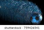 black white soccer ball with... | Shutterstock . vector #759426541