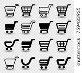 vector simple shopping cart ... | Shutterstock .eps vector #759432925