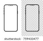 new version of black slim... | Shutterstock .eps vector #759433477