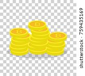 bitcoin concept  illustration... | Shutterstock . vector #759435169