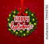 christmas greeting card. xmas... | Shutterstock .eps vector #759435781