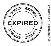 grunge black expired round...