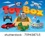 concept illustration of toy box ... | Shutterstock .eps vector #759438715