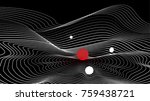 topographical map with spheres  ... | Shutterstock .eps vector #759438721