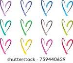 heart shape vector design set | Shutterstock .eps vector #759440629