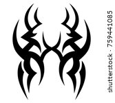 tattoo tribal vector design.... | Shutterstock .eps vector #759441085