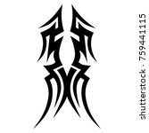 tattoo tribal vector design.... | Shutterstock .eps vector #759441115