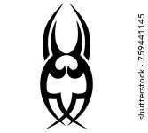 tattoo tribal vector design.... | Shutterstock .eps vector #759441145