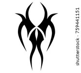 tattoo tribal vector design.... | Shutterstock .eps vector #759441151