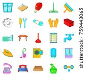 apartment renovation icons set. ... | Shutterstock .eps vector #759443065