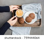 the perfect tasty breakfast  ... | Shutterstock . vector #759444064