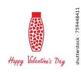 valentines day. love card. tube ... | Shutterstock .eps vector #759448411