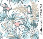 seamless pattern of ink hand... | Shutterstock .eps vector #759449764
