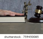 witness's hand on a bible.... | Shutterstock . vector #759450085