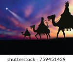 three wise men following the... | Shutterstock .eps vector #759451429