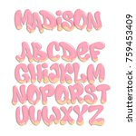 vector of stylized melted font... | Shutterstock .eps vector #759453409