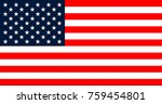 usa flag in the original size  | Shutterstock . vector #759454801