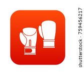 boxing gloves icon digital red... | Shutterstock .eps vector #759456217