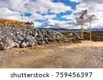 construction of a viaduct with... | Shutterstock . vector #759456397