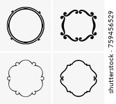 simple round frames | Shutterstock .eps vector #759456529