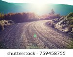 road in the prairie country | Shutterstock . vector #759458755