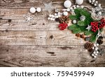 christmas card with firtree...   Shutterstock . vector #759459949