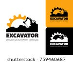 excavator and backhoe logo... | Shutterstock .eps vector #759460687