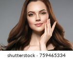 woman beauty healthy skin and...   Shutterstock . vector #759465334